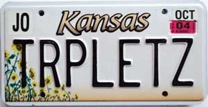 2004 Kansas Sunflower graphic # TRPLETZ, Johnson County