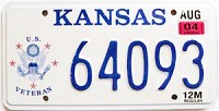 2004 Kansas Veteran graphic # 64093