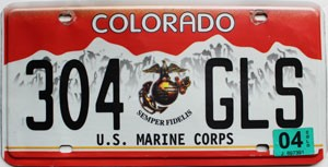 2004 Colorado Marine Corps graphic # 304-GLS
