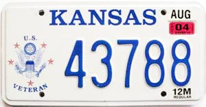 2004 Kansas Veteran graphic # 43788