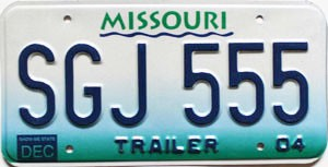 2004 Missouri Trailer # SGJ-555