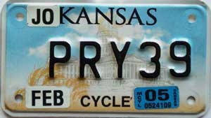 2005 Kansas Motorcycle graphic # PRY39, Johnson County