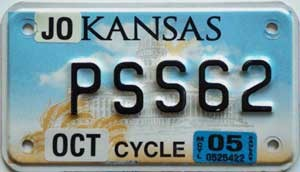 2005 Kansas Motorcycle graphic # PSS62, Johnson County