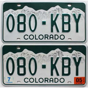 2005 Colorado graphic pair # 080-KBY