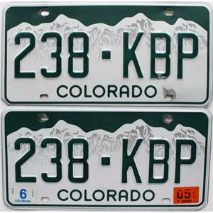 2005 Colorado graphic pair # 238-KBP