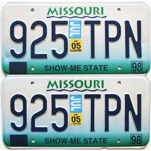 2005 Missouri graphic pair # 925-TPN