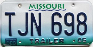 2005 Missouri Trailer # TJN-698