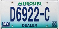 2006 Missouri Dealer # D6922-C