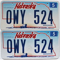 2006 Nebraska Wagon graphic pair # OWY-524