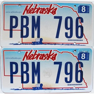2006 Nebraska Wagon graphic pair # PBM-796