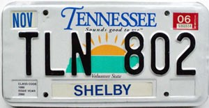 2006 Tennessee Sounds Good to Me # TLN-802