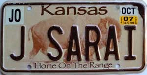 2007 Kansas Buffalo graphic # J SARAI, Johnson County