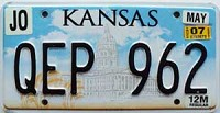 2007 Kansas Capital graphic 12M Truck # QEP-962, Johnson County