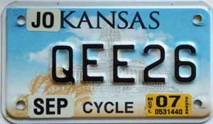 2007 Kansas Motorcycle graphic # QEE26, Johnson County