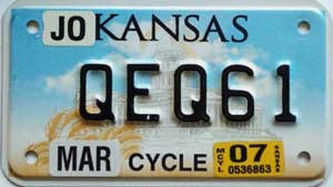 2007 Kansas Motorcycle graphic # QEQ61, Johnson County