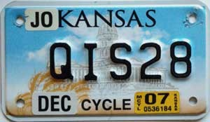 2007 Kansas Motorcycle graphic # QIS28, Johnson County