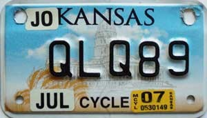 2007 Kansas Motorcycle graphic # QLQ89, Johnson County