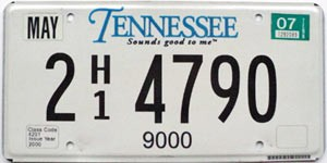 2007 Tennessee Truck graphic # 2-4790