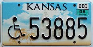 2008 Kansas Disabled graphic # 53885