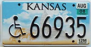 2008 Kansas Truck Disabled graphic # 66935