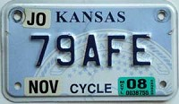 2008 Kansas Motorcycle graphic # 79AFE, Johnson County