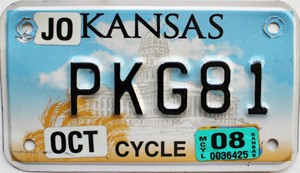 2008 Kansas Motorcycle graphic # PKG81, Johnson County