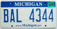2008 Michigan graphic # BAL-4344
