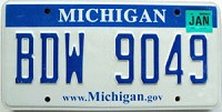 2008 Michigan graphic # BDW-9049