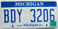 2008 Michigan graphic # BDY-3206