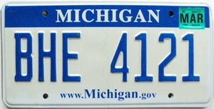 2008 Michigan graphic # BHE-4121
