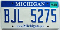 2008 Michigan graphic # BJL-5275