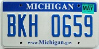 2008 Michigan graphic # BKH-0659