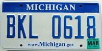 2008 Michigan graphic # BKL-0618