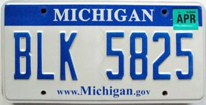 2008 Michigan graphic # BLK-5825