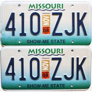 2008 Missouri graphic pair # 410-ZJK