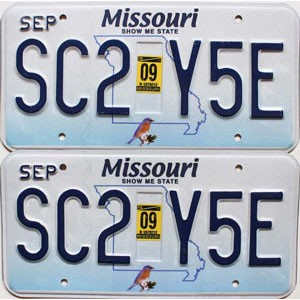 2009 Missouri graphic pair # SC2-Y5E