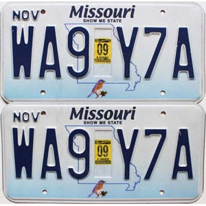 2009 Missouri graphic pair # WA9-Y7A