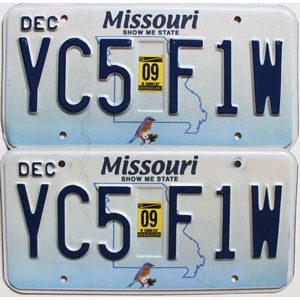 2009 Missouri graphic pair # YC5-F1W