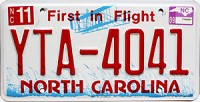 2009 North Carolina First In Flight # YTA-4041