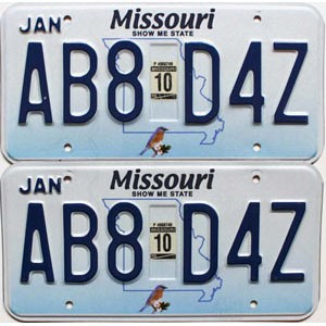 2010 Missouri graphic pair # AB8-D4Z