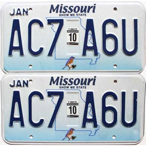 2010 Missouri graphic pair # AC7-A6U