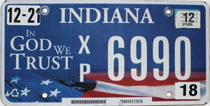 2012 Indiana In God We Trust graphic # 6990