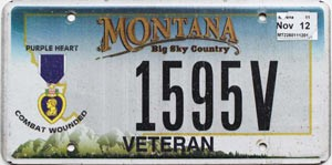 2012 Montana Purple Heart Combat Wounded # 1595V