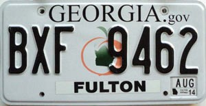 2014 Georgia Peach graphic # BXF-9462