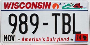 2014 Wisconsin America's Dairyland # 989-TBL