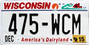 2015 Wisconsin America's Dairyland # 475-WCM