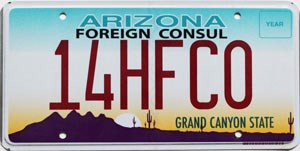 2016 Arizona Honorary Foreign Consul # 14HFCO