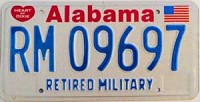 Alabama Retired Military graphic # 9697