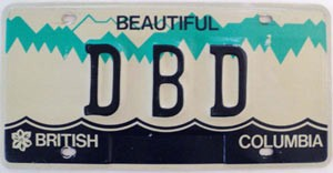 British Columbia Vanity graphic # DBD