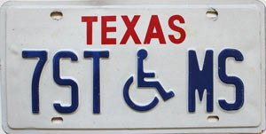 Texas Disabled # 7ST-MS